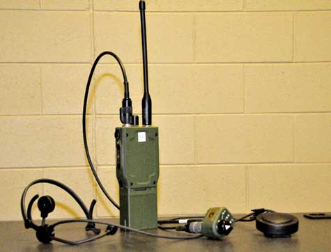 Modern military radio, photo courtesy of the US Army, by Jason Bock (C-E LCMC).